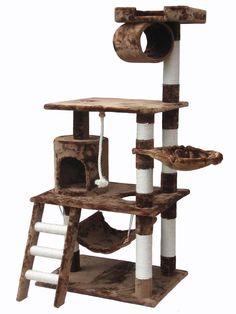 62 Inch Multi Level Cat Gym-