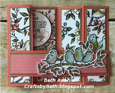 Crafts by Beth: Free Card Instructions Fun Fold Cards, Folded Cards, Handmade Greetings, Greeting Cards Handmade, Bridge Card, Cards For Friends, Friend Cards, Bee Cards, Shaped Cards