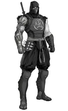View an image titled 'Cyborg Ninja Concept Art' in our Yaiba: Ninja Gaiden Z art gallery featuring official character designs, concept art, and promo pictures. Ninja Kunst, Arte Ninja, Ninja Art, Fantasy Character Design, Character Concept, Character Inspiration, Character Art, Armor Concept, Concept Art