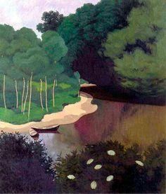 Felix Vallotton (Swiss 1865-1925) La Dordogne a Carrenac (1925)