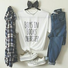 Look fashion, #bohemio, #jeans, #cute, #comodo, #fashion, #casual, #moda, #outfits, #estilo, #informal, #converse, #moño