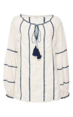 Faro Embroidered Guna Top by TALITHA for Preorder on Moda Operandi