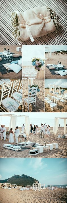 Beach wedding Italy , lovely flowers by Tea Rose