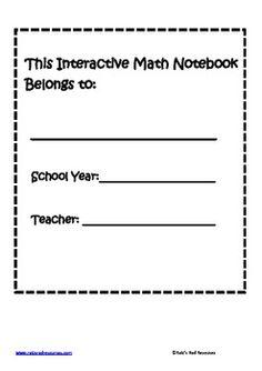 Interactive Math Notebook Set Up Guide Interactive Math Journals, Math Notebooks, Flipped Classroom, Classroom Ideas, Notebook Ideas, Kids Education, Algebra, Middle School, School Ideas