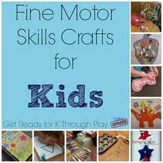 Toddler Approved!: Fine Motor Skills Crafts for Kids {Get Ready for K Through Play}
