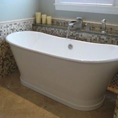 Freestanding tub and faucet