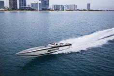 Cigarette 50' Marauder AMG Black Series #speedboat #miami