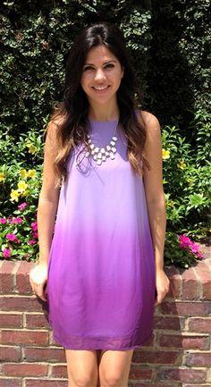 Lavender Ombre Sleeveless Shift Dress