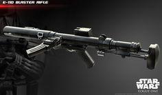STAR WARS CLONE TROOPER Heavy Blaster Rifle Brown Stock Figurine Accessoire