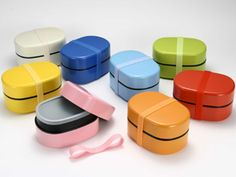 bento boxes in many colors