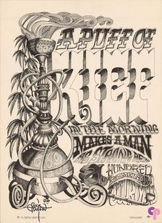 Classic Poster - None at Head Shop Poster Circa 1967 by Rick Griffin