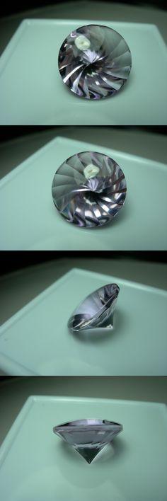 Amethyst 10192: 11.4Ct Rare Rose De France Amethyst Fancy Spiral Buff Top Liliac Purple Gemstone -> BUY IT NOW ONLY: $115.49 on eBay!