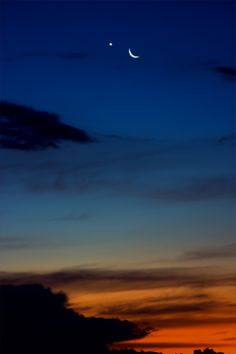 """Moon and Venus """"even venus couldnt tell, what would become a summers spell"""""""