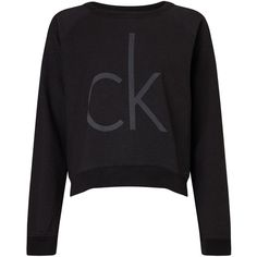 Calvin Klein Juisa Logo Sweatshirt, Meteorite ($74) ❤ liked on Polyvore featuring tops, hoodies, sweatshirts, sweaters, jumpers, calvin klein, calvin klein tops, logo sweatshirts, logo tops and long sleeve tops