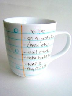 Notebook Paper Coffee Mug