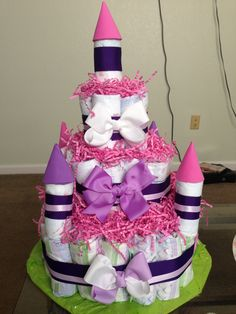 First diaper cake I've made!!! Yay :D