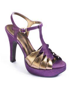 Viva La Diva  Twist T Bar Sandals
