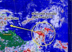 Onda Tropical 10 al Norte de la Guayana Francesa, se espera ingreso al Noreste de Venezuela el 19/6/2014