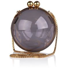 lucid ball clutch ❤ liked on Polyvore featuring bags, handbags, clutches, purses, ball purse, handbags purses, hand bags and man bag
