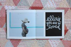 Photobook for newborn Ellerie by Elise Blaha
