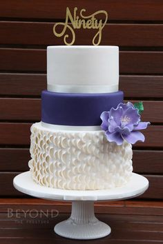 90th Birthday Cake - Cake by beyondthefrosting