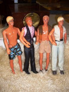 BOYS NIGHT OUTFour Vintage Ken Dolls and by WrathofRa on Etsy, $39.00