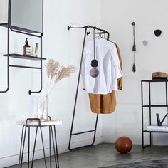 MUUBS Mirror Copenhagen with shelves Wardrobe Rack, Copenhagen, Shelves, Mirror, Room, Furniture, House, Collagen, Instagram