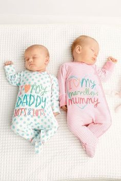 Buy Two Pack Mum And Dad Sleepsuits (0mths-2yrs) online today at Next: United States of America