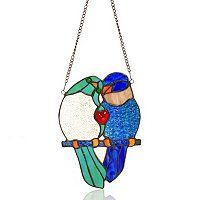 Amora Double Birds Window Panel love birds