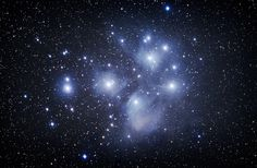 The Pleiades star cluster (M45).  Click to enlarge.  Image courtesy of Jack Newton.
