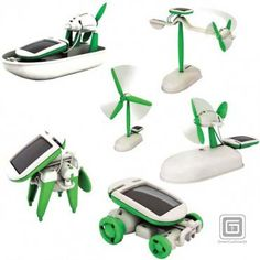 Elenco Educations Solar Kit $24.99 - Teach your kids about the power of the sun with this Educational Solar Kit. Children use the 21 snap together parts (no tools required) to build six different working models including an airboat, car, windmill, puppy, and two different airplanes. Solar building kits teach children the benefits of solar energy, while they create a toy that is both fun to play with and requires no batteries. #kids #christmas #gifts #presents #solar