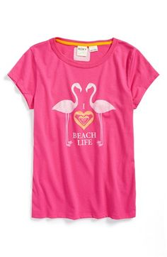 T-shirt with flamingos