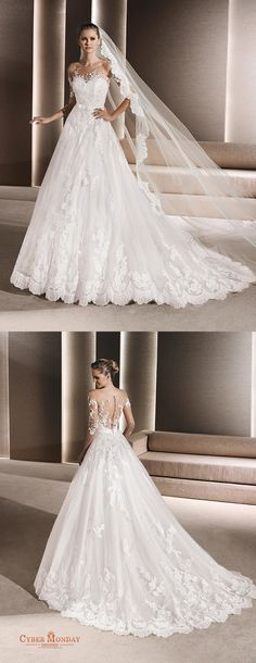 2016 Scoop A Line Wedding Dresses Tulle With Applique And Sash Item Code: #CMDP415TBAY