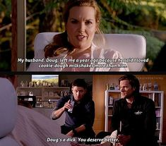 This is why I love Dean. He doesn't care about weight. He thinks all women are beautiful.