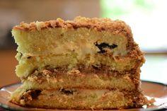 Prune Walnut Cake (Use Sponge Cake Recipe) Desserts To Make, Gluten Free Desserts, Jello Desserts, Prune Cake, Russian Cakes, Italian Pastries, Italian Dishes, Tall Cakes, Sponge Cake Recipes