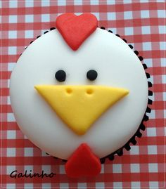 rooster cupcake