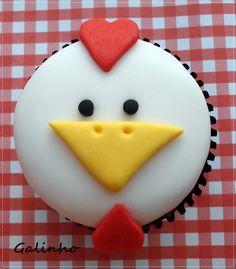 @KatieSheaDesign ♡❤ #Cupcakes❤♡ ♥ ❥ Rooster Cupcake