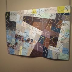 Sgabello 5: Surveillance by artist Sandra Palmer Ciolino is part of the exhibit Art Quilts of the Midwest.  #nationalquiltmuseum #PADUCAH