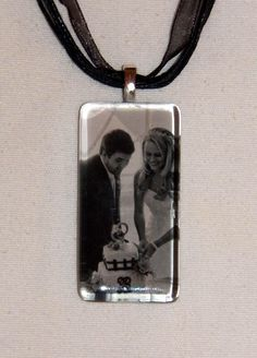 Glass Photo Tile Pendant by PersonalityTreasures on Etsy, $20.00