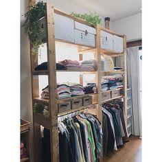 Home Diy, Room Diy, Home Room Design, Pallet Closet, Diy Furniture Plans, Apartment Design, House, Home Decor, Minimalist Home Interior