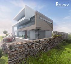 Modernes EFH mit Staffelgeschoss und Flachdach by www.flow-architektur.de