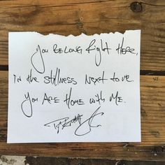 """""""You belong right here, in the stillness next to me. You are home with me."""" — Daily Haiku on Love by Tyler Knott Gregson #tylerknott"""