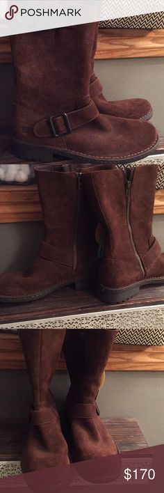 Men's suede mid calf boots Tan Born suede boots NWT! These are Intellitemp technology! Very sturdy sole and has a zipper on the side! Cool boots... Born Shoes Boots #midcalfboots