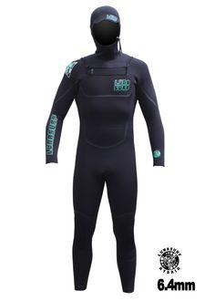 Lunasurf 6.4mm Hooded Winter Wetsuit Black Free Delivery