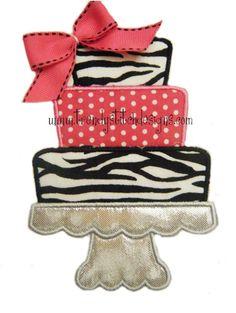 Cake on Pedestal Applique Machine by trendystitchdesigns on Etsy, $2.50