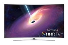 """Samsung UN65JS9000 Curved 65-Inch 4K Ultra HD 3D Smart LED TV Refresh Rate: 240 CMR (Effective) Backlight: LED Smart Functionality: Yes - Built in Wi-fi Dimensions (W x H x D): TV w/ stand: 57.5"""" x 36"""" x 14.4"""", TV w/o stand: 57.5"""" x 32.9"""" x 4.2"""" Inputs: 4 HDMI ports and 3 USB ports $3,497.99"""