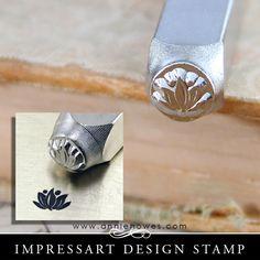Impressart Metal Stamps - Lotus Flower Stamp