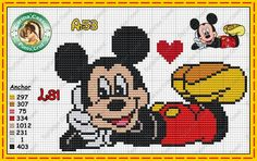 """Delicate Corner: Charts Cross Stitch """"Mickey and Minnie"""" Mickey Mouse E Amigos, Mickey Mouse And Friends, Mickey Minnie Mouse, Disney Mickey, Wedding Cross Stitch Patterns, Cross Stitch Baby, Cross Stitch Kits, Cross Stitch Charts, Disney Stitch"""