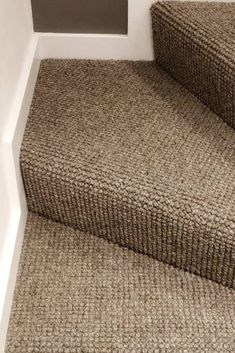 The beautiful Wool Pebble Portloe carpet is perfect for introducing warmth, luxury and comfort to your lounge, dining room or bedroom.Installation by Andrew Rush Carpets. Carpet Staircase, Hallway Carpet, Wall Carpet, Diy Carpet, Modern Carpet, Bedroom Carpet, Living Room Carpet, Carpet Ideas, Cheap Carpet
