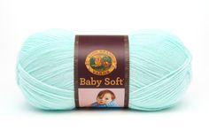 Yarn Pastel Green Lion Brand Babysoft Yarn by GabbysQuiltsNSupply
